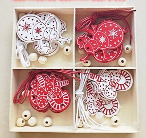 christmas decorations 2020 DIY handmade smooth wooden color box decoration creative 4 grid wooden box home decoration handmade wood chips