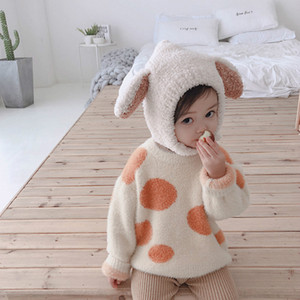 Baby Girls Boys Fashion Plush Hat Kids Solid Color Cute Rabbit Ears Warm Hat Baby Newborn Hats Children 2020 Winter Warm Wear Hot Selling