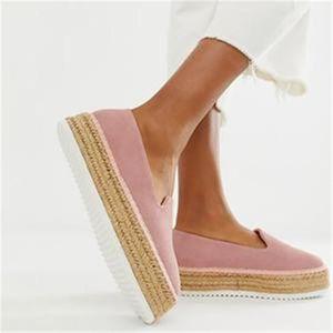 2020 LASPERAL gamuza sintética Alpargatas Casual mujeres de los holgazanes planos del ballet de las señoras cómodas Zapatos