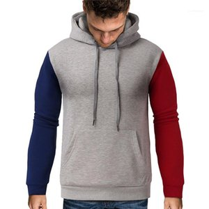 Long Sleeve Loose Plus Size Hoodies Mens Clothes Mens Designer Hoodie Fashion Color Panelled Pullovers Hoodies Casual