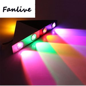 10pcs 5W LED Duvar Işık Lambası AC85-265V Alüminyum Üçgen Salon Arkaplan Koridor Koridor Lambalar Home For Bar KTV