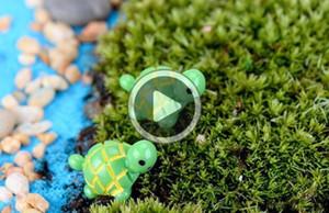 artificiais bonitos verdes miniaturas animais tartaruga de fadas gnomos do jardim musgo terrários de resina artesanato estatuetas para decoração de jardim Dylan