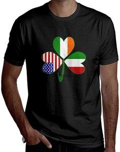 Plus Size ideale regalo di Natale italiana americano irlandese Shamrock Uomo Bello a manica corta T-Shirt T-Shirt T-shirt di moda