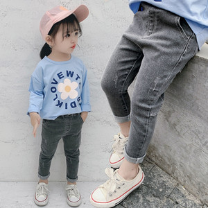 Jeans panty wear 2019 spring Korean style children's pants boys' and girls' pants New Spring children's wear jeans for children