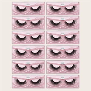 New Arrival MAGEFY 12 Pairs 3D Mink Eyelashes Natural Long Eye Lashes Handmade Thick Black False Eyelashes Makeup Beauty Tool