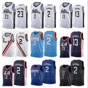 NCAA Nuove Kawhi Clippers uomini2 Leonard Paul 13 George Lou Williams 23 dimensione pallacanestro Jersey s-xxl