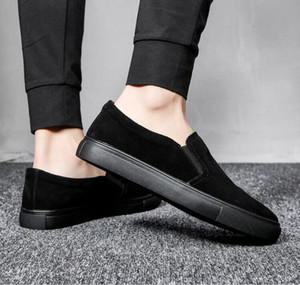 2021 Classics Platform Summer Men Casual Shoes Fashion Men Sneakers Loafers Genuine Leather Shoes Slip on Men's Flats Driving Boat