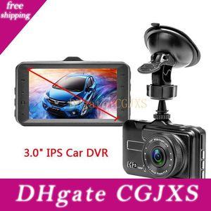 Маленький автомобиль Dvr Digital Driving Recorder черточки видеокамера 3 Дисплей Fhd 1080p 170 ° Loop Recording G -Sensor Детектор движения парковки монитор