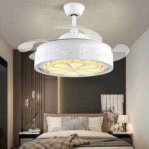 Новый простой Stealth термоусадочную вентилятор лампы Ресторан Потолок Short Short Base вентилятор с пультом дистанционного управления Ретро Потолочный вентилятор