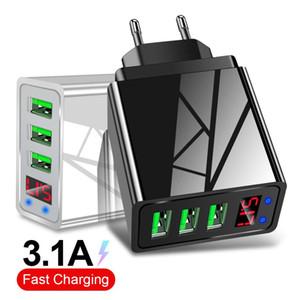Cgjxs5v 3 .1a быстрой зарядки светодиодный дисплей 3 USB зарядное устройство адаптер для Iphone 11 Xiaomi Mi9 Huawei Samsung S10