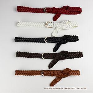 rKKiZ style thin Women's Dall-match PU woven beltw small Korean style simple leather thin belt Women's Dall-match PU korean beltsimple 1MMSO
