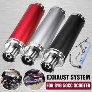 De escape de la motocicleta Sistema de tubo de escape del silenciador para GY6 50cc Scooter