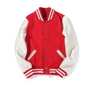 Designer Jacket Mens Jackets Baseball Uomo Casual Miscela Uomini Cappotti cotone monopetto Outdoor baseball di sport formato uniforme S-3XL
