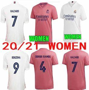2020 Женщины Реал Мадрид Джерси Футбол 2021 Леди Хазард Серхио Рамос Байл Варен Карваджал Менди Асенсио Джеймс Марсело Футбольные наборы