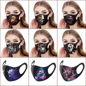 На складе Halloween Party маска 31 Стилей с фильтром моющихся многоразовых Взрослые Хлопка лицо Маски 3D Printed Призрачного Jolly череп конструктора Маской
