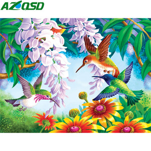 AZQSD DIY Coloring By Numbers Animal Drawing On Canvas Oil Painting By Numbers Birds Handpainted Painting Art Abstract