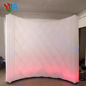 Forma de Diamante Party DJ estágio decoração de alta qualidade cabine de iluminação foto pano de fundo LED Backdrops parede inflável stand de vendas