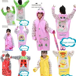 Umweltfreundliche PVC Kinderregenmantel mit Schulranzen koreanischen Comic Prinzessin Inflatable Schulranzen Inflatable Mantel Krempe Student o