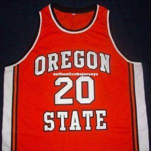 # 20 Gary Payton Oregon Eyalet Kunduzlar Basketbol Jersey Siyah Nakış Dikişli özelleştirme özel Ucuz herhangi bir boyut ve isim