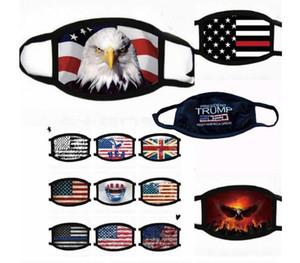 2020 Máscaras quente Eleição americana Trump Supplies contra pó Máscara impressão Homens e bandeira americana Mulheres Universal para a máscara frete grátis