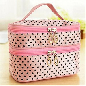 Cosmetic Bags Travel Makeup Cosmetic Toiletry Case Washable Double Layer Organizer Storage Pouch Hanging Bag Drop Shipping