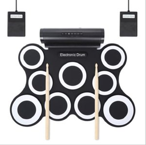 In stock! 9-Pad Foldable Electronic Drum Set for Christmas gift for Music Player Support drum games
