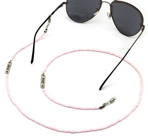 Мода новой 70сма Серебро письма ЛЮБОВЬ висит цепь розовых бусы ручных очки цепь очки талреп оптовым