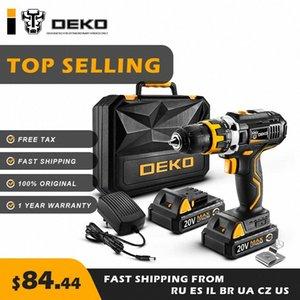 DEKO GCD20DU2 20V MAX Cordless Drill cacciavite elettrico incisore Mini Drill Utensili elettrici al 100% originale Tax Free casa fai da te IhSy #