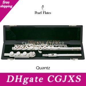 Pearl Quantz Pf -665 17 Chiavi aprire falle di argento placcato Flauto Superficie Cupronickel Flauto C Tune I Legenda Flauto musicale con il caso dello strumento