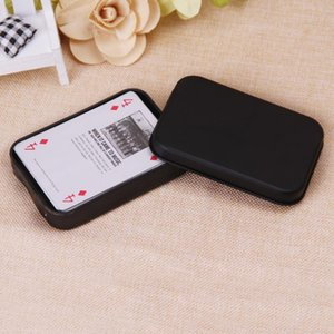 Мини-Tin Подарочная коробка маленький пустой Black Metal Storage Box Case Организатор Контейнер для денег монет Candy Кис игральных карт DHD1058