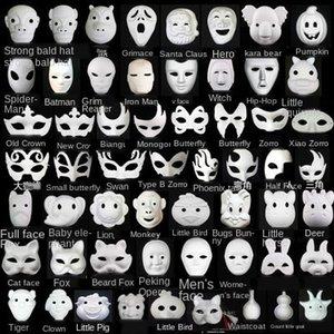 Diy Beyaz Çocuk Anaokulu Öğretim Yardımcı Kağıt Boyama Maskesi El boyaması