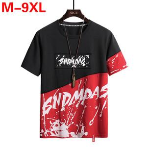 Männer T-Shirt Print 9XL 8XL Plus Size T-Shirts Hip Hop-T-Shirts der Männer beiläufige Mens Fashion Large Size Top Maxi-Spitzen T