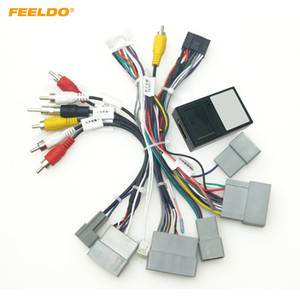 FEELDO Car 16pin Audio Wiring Harness With Canbus Box For Honda Civic CRV Breeze Aftermarket Stereo Installation Wire Adapter #6487