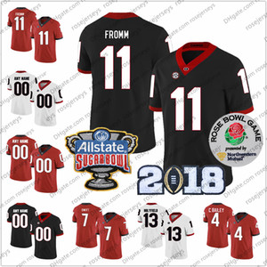 Özel 2020 Geogia Bulldoglar Futbol 1 George Pickens 3 Todd Gurley II 7 D'Andre Swift 11 Jake Fromm 34 Walker Formalar 3XL