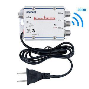 1 de cada 3 Precinto de salida de antena Catv divisor Amplificador Digital Signal Booster Amplificador interior TV Amplificadores T200608