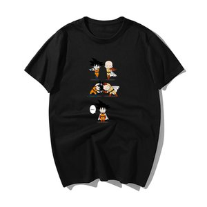 2019 Drôle One Piece Luffy One Fusion Punch-Man T-shirts pour hommes Summerhigh qualité coton à manches courtes T-shirt Hip Hop Streetwear
