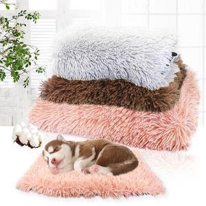 Winter Pet Dog Bed Long Plush Soft Fleece Blankets Pets Cushion House For Small Medium Dogs Cat Sleeping Cats Mattress Supplies