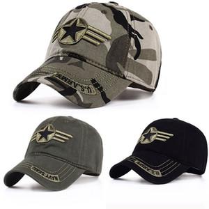 Chasse Camouflage Casquette de baseball américain coton broderie Alphabet Caps Casual Hommes Soldat extérieur Combat Protection contre le soleil Chapeaux VT1562