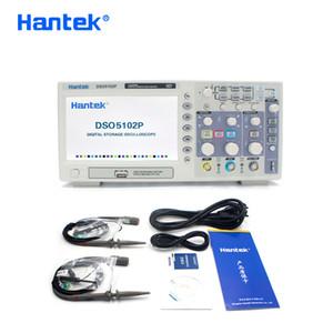 التخزين HANTEK DSO5102P الذبذبات الرقمية المحمولة USB Osciloscopio محمول الذبذبات 2 القنوات 100MHZ 1GSa / ثانية 40K