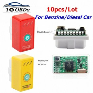 10pcs Super OBD2 ECU Chip Tuning Double PCB Full Chip PIC16F59 Red For Diesel Car Yellow For Benzine Car More Power More Torque izn9#