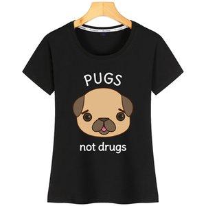 Drôle Pug Pun femmes T-shirt Lumière du soleil AuthenticDesigner coton