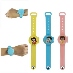 Silicone Wristband Fashion Watch Hand Sanitizer Bracelets Portable For Children Wash Free Round Shape Mix Color Safe 15ak F2