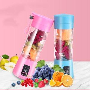Portable USB elétrico do fruto Juicer Handheld suco de vegetais Criador Blender recarregável Mini Juice Fazendo Copo Com cabo de carregamento