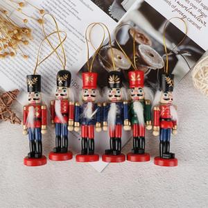 10cm Doll Année Pendentif Cadeaux Enfants en bois Casse-Noisette Décoration de Noël 2020 Ornements Nouvel An de marionnettes Arbre de Noël Soldat bbyMVv
