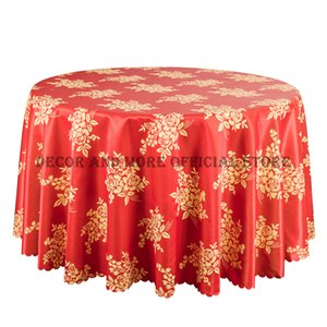 10PCS Wedding Red Round Table Cloth Luxury Dining Tablecloths For Hotel Banquet Home Decor Rectangular Table Cover Damask