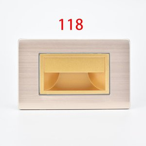 118 Model Wall Light American style Stair light LED 1.5W Step Lamp Supplementary lighting for Indoor Kitchen Corridor Hotel