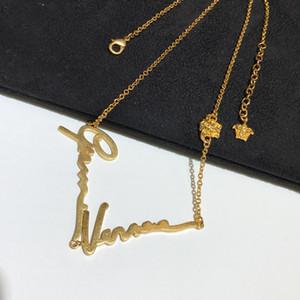 Neuer einfacher Brief Schönheit avatar Designer Halskette, Persönlichkeit vielseitig Mode-Kette