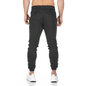 Musculares estética de deportes de otoño nuevos pantalones de algodón aptitud deportes de los hombres que ejecutan pantalones de entrenamiento