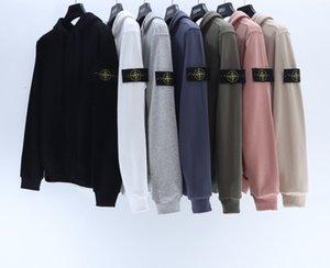 Ilha de algodão revestimento das mulheres Queda 2020 New Stone Revestimento encapuçado do Men Sweater Tee M -XXL
