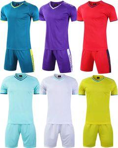 Football Jersey shorts men's soccer training camp team uniform youth football training sportwear kids kit shirts